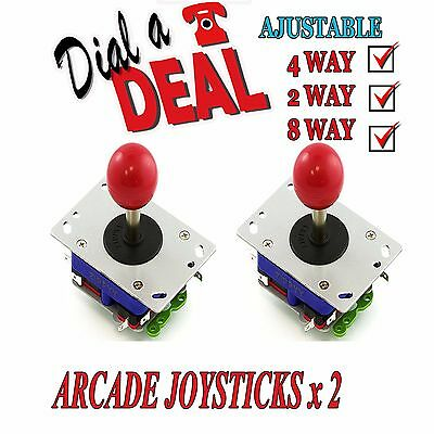 Arcade Joystick x 2 Professional High Quality zippy red ball top