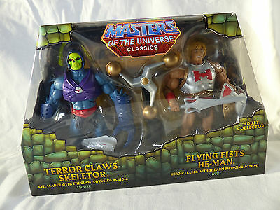 Motu  Classics - Terror Claws Skeletor / Flying Fists He Man 2-Pack MOSC