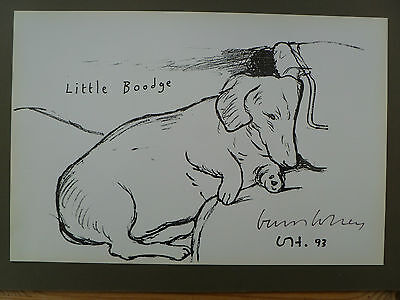 Little Boodge by artist David Hockney Hand Signed Autograph on large size print