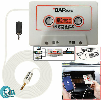 Car Audio Tape CASSETTE ADAPTER nano 3.5mm JACK AUX Cable for Phone MP3 CD Radio