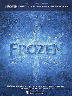 Frozen Movie Soundtrack Piano Vocal Guitar Sheet Music Book Cartoon Film Picture