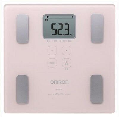 Digital bathroom scale Body Weight Omron Thin Flat Design Japanese HBF-214-PK