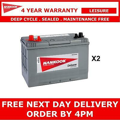 2x 90Ah Leisure Battery 12V, Caravan Motorhome - Deep Cycle