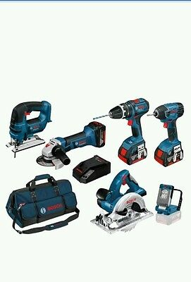 Bosch BAG + 6DS 18V 6 PIECE CORDLESS TOOL KIT WITH 3X 4.0AH IN BAG