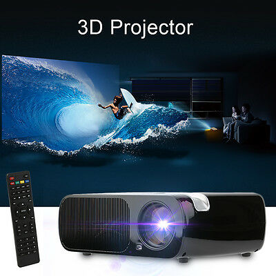 "5"" 2600 Lumens HD 1080P Home Cinema Theater LED LCD 3D Projector HDMI/AV BL-20 H"