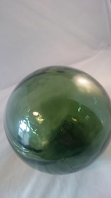 Antique Green Glass Witch Ball / Estate Sale