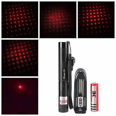 Red Laser Pointer with battery and charger 1MW plus safety keys