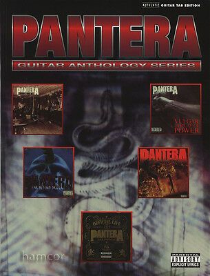 Pantera Guitar Anthology Series TAB Music Book Dimebag Darrell