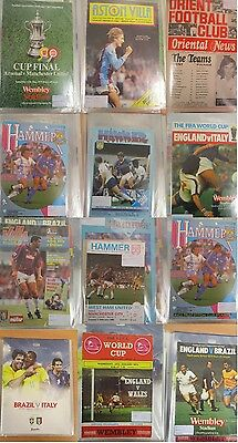 Collection of Mostly Vintage Football Programmes in Folder (220W)