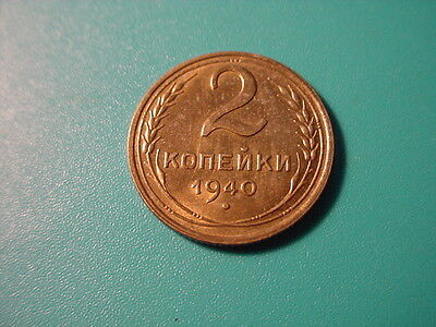 Russia 1940 2-Kopek In Near Uncirculated Condition