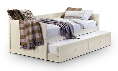Julian Bowen Jessica 3FT Day Bed With Underbed Trundle - Stone White Finish