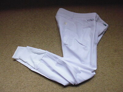 Animo ladies silicone knee grip competition show breeches white size I 42 UK 10