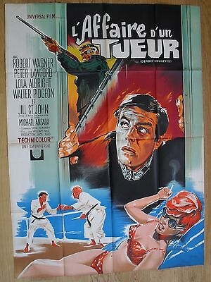 """DEADLY ROULETTE Lola Albright original french movie poster 63""""x47"""" '67 litho"""