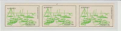 Alderney Packet Strip of 3 Stamps UM