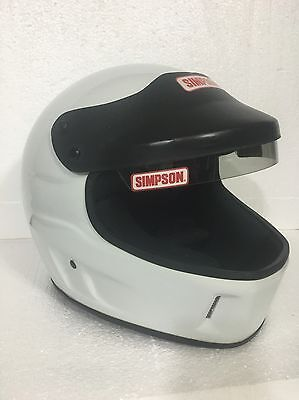 SIMPSON LXF Racing Helmet-Size 8-WHITE-Very Lightly Used-Clean! Quality Headgear