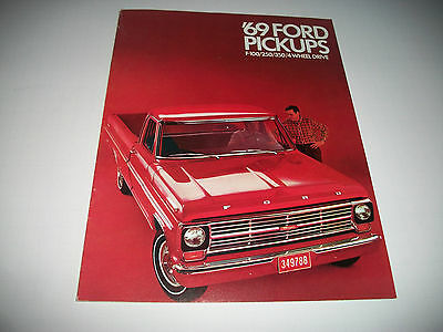 1969 Ford  Pickups Sales Brochure F100/250/350+ 4-Wheel Drive Clean  Canadian