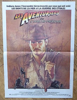 INDIANA JONES RAIDERS OF LOST ARK Harrison Ford original french movie poster '81