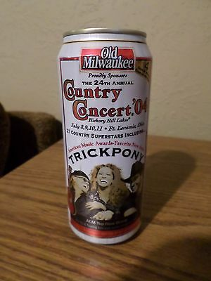 Vintage Old Milwaukee Country Concert '04 Trick pony 16 oz Beer Can