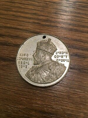 London County Council King Edward VII School Attendance Medal 1906