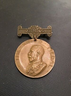 London County Council The King's Medal School Attendance Medal 1911