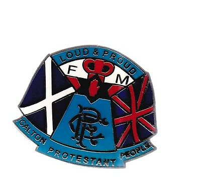 Glasgow Rangers Gers Political  Pin Badge lot8
