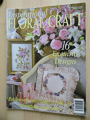 Floral Craft Embroidery & Cross Stitch & Patchwork Craft Book