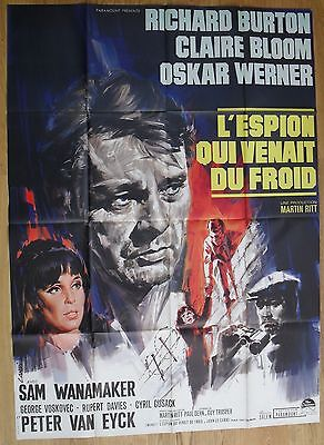 """THE SPY WHO CAME IN FROM THE COLD original french movie poster 63""""x47"""" '65"""