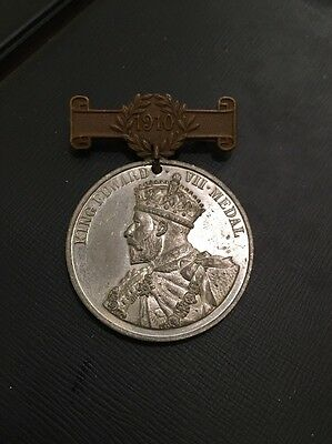 London County Council King Edward VII School Attendance Medal 1910