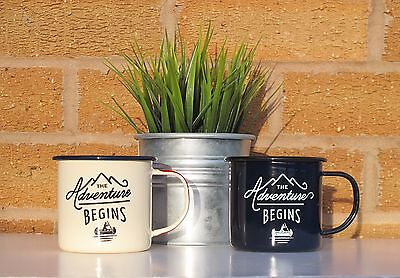 The Adventure Begins Enamel Mug Cup Gentleman's Hardware Fathers Day