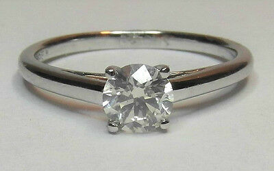 18ct White Gold 0.50ct Diamond Solitaire Ring Size N