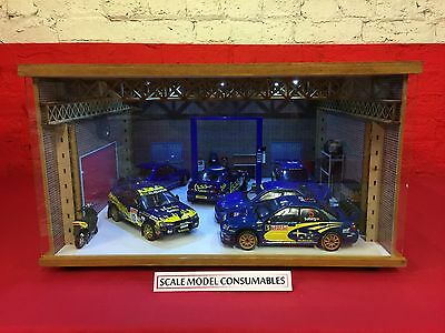 1:18 1/18 1-18 118 Scale Subaru Complete Diorama Garage With Tools & Cars