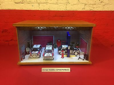 1:18 1/18 1-18 118 Scale Lancia Complete Diorama Garage With Tools & Cars
