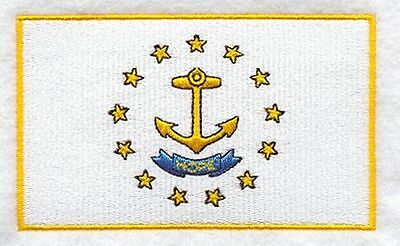 "Rhode Island State Flag Embroidered Patch 3.3"" x 2"""