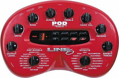 Line 6 Pod 2.0 Direct Desktop & Multi Effects Pedal + Power Supply