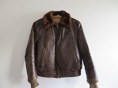 Vintage 1950's Horsehide Sherpa Sherling Jacket Made In the USA