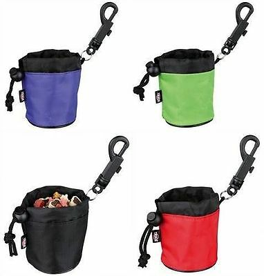 Dog Activity Mini Snack Bags With Hook Attachment & Drawstring Close 7 x 9 cm