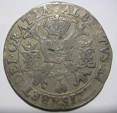Netherlands/Spain 1616 Albert and Isabelle  Silver One Patagon