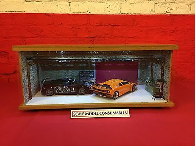 1:18 1/18 1-18 118 Scale Lamboghini Complete Diorama Garage With Tools & Cars