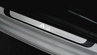 Genuine Audi A3 Sportback & Saloon 4dr Illuminated Door Sill Trim Plates 2013>