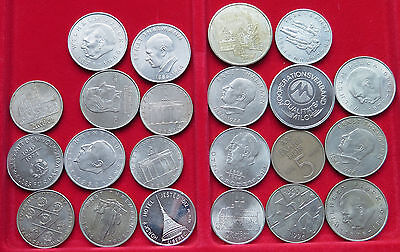GERMANY COLLECTION LOT DDR COINS AND MEDALS 22pc 319g #xxE 069