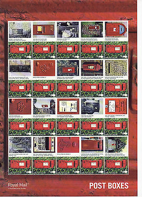 LS65 2009 Smilers Royal Mail Post Boxes (face value £12.80)