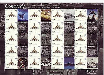 LS57 2009 Smilers for 40th Anniversary of Concorde (face value £12.80)