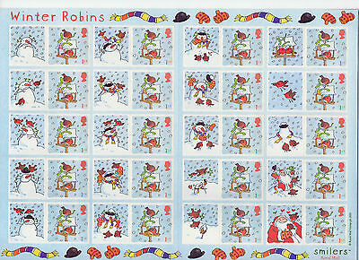 LS14  2003 Smilers Winter Robins (face value £12.80)
