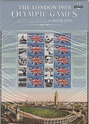The London 1908 Olympic Games Smiler Sheet liimited edition no. 678