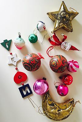 Vintage Christmas Tree Decorations Glass Baubles Ornaments