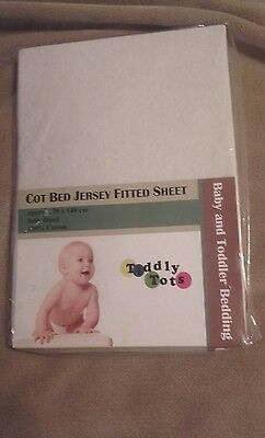Cot Bed Jersey Fitted Sheet