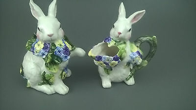 Rabbit/Bunny Ceramic Cream And Sugar Set