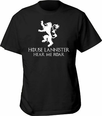 t game thrones shirt LANNISTER jon snow house new crests mens hodor i s winter