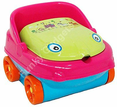 Toddler Baby musical car potty trainer (salmon/ Pinkish Orange/Blue New