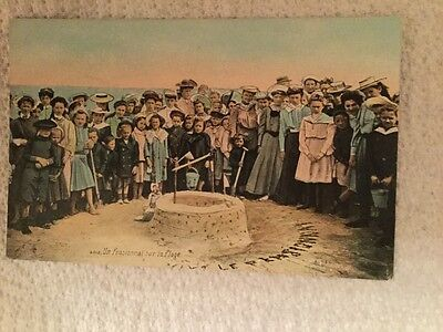 Old French Postcard - The Boarding School by the Sea